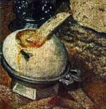 Eierbecher auf altem Gemälde
