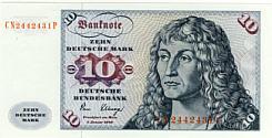 BRD 10 DM - Geldschein